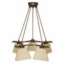 Magna lampa wisząca 5 pł. (brąz)