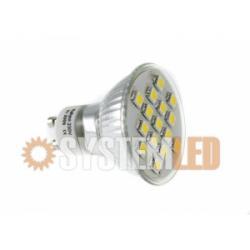 Żarówka LED GU10 SMD 15 ZIMNY