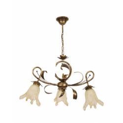 Cecylia lampa wisząca 3 płomienna (brąz)
