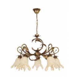 Cecylia lampa wisząca 5 płomienna (brąz)