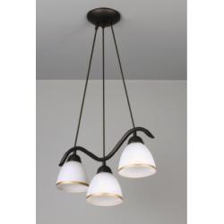 Ramal lampa wisząca 3 płomienna ( fala )