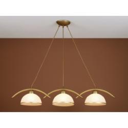 Fala-A lampa wisząca 3 płomienna złoto