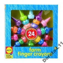 Kredki na palce FARMA - 24 szt - UNIKALNE, alex toys