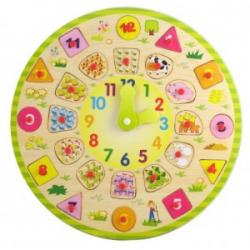 Zegar drewniany - edukacyjny