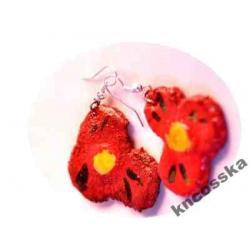 Cośka czerwone kwiaty kolczyki Marki k/Wa-W