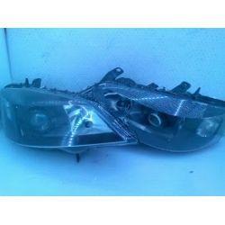 OPEL Astra II Sport lampy przednie czarne HELLA przerobione na soczewk