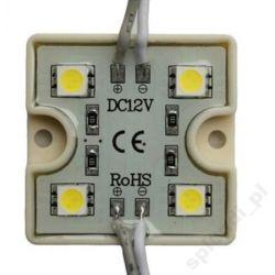 MODUŁ LED 4x 5050 SMD WODOODPORN IP65 biały ciepły