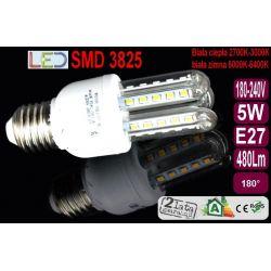 ŻARÓWKA energooszczędna 36 LED 5W=50W E27 ciepła