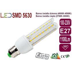 ŻARÓWKA LED E27 12W 1100lm SMD 5630 Ciepła/Dzienna