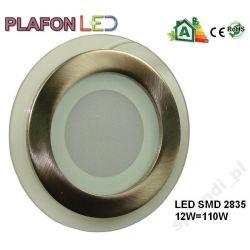 Panel LED PLAFON Oprawa cyble chrom 12W ciepła
