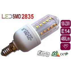 ŻARÓWKA energooszczędna 30 LED 5W jak50W E14 zimna