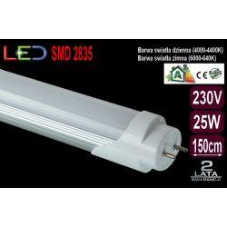 Świetlówka Tuba Rura Oprawa LED 25W T8 150cm zimna