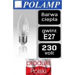 Żarówka TRADYCYJNA ŚWIECZKA E27 25W/40W/60W