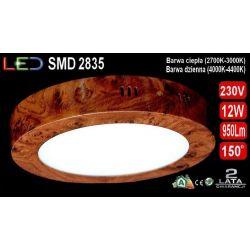 Panel LED PLAFON Drewno natynk lampa 12W dzienna