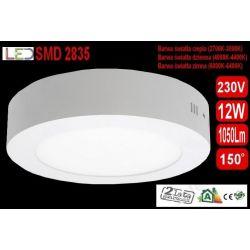 Panel LED PLAFON oprawa natynk lampa 12W zimna