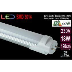 Świetlówka Tuba Rura Oprawa LED 18W T8 120cm zimna