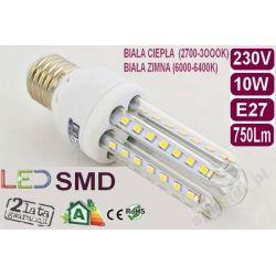 ŻARÓWKA energooszczędna 52 LED 10W=100W E27 zimna