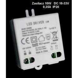 Zasilacz led 10W 0.35A 18-33V DC puszka /9888/