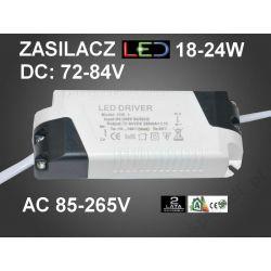 TRANSFORMATOR ZASILACZ LED DRIVER 18-24W DC:72-84V