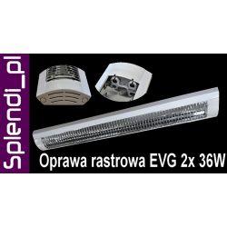 Lampa biurowa oprawa RASTROWA EVG 2 X 36W