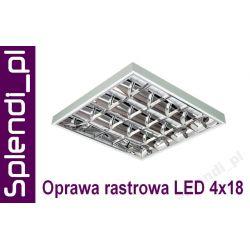 LAMPA Oprawa rastrowa NAtynkowa 4x18W do LED