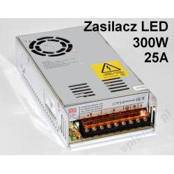 Zasilacz montażowy 12V 25A 300W do taśm LED /304