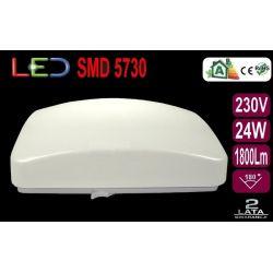 Lampa plafon kinkiet kwadrat LED 24W 1800Lm  9038