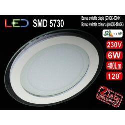 Panel sufitowy plafon LED TIK-6W=60W b.ciepła