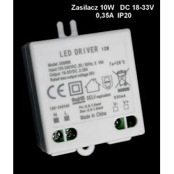 Zasilacz led 10W 0.35A 18-33V DC  /9888/