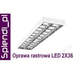 LAMPA Oprawa rastrowa NAtynkowa 2x36W do LED