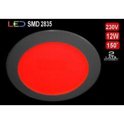 Panel sufitowy plafon kinkie LED SLIM 12W czerwony