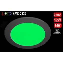 Panel sufitowy plafon LED SLIM 12W zielony