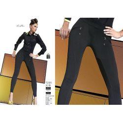 Bas Bleu KAREN legginsy spodnie ala skóra r.4/L