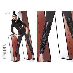 Bas Bleu ISMENA legginsy spodnie ala skóra r.3/M