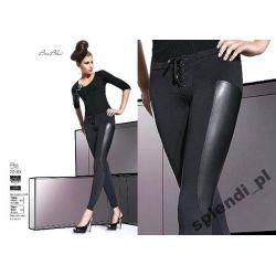 Bas Bleu EFRA legginsy spodnie latex_skóra r.4-L