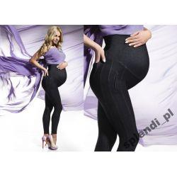 Leginsy jeans Bas Bleu CINDY Ciążowe r.3/M