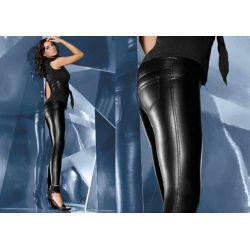 Bas Bleu VANESSA legginsy spodnie ala skóra r.4/L