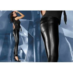 Bas Bleu VANESSA legginsy spodnie ala skóra r.2/S