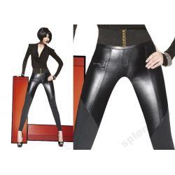 Bas Bleu Esta legginsy spodnie latex_skóra roz.3/M