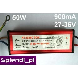Zasilacz (driver) AC do LED 50W 900mA 27-36V 2979