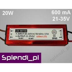 Zasilacz (driver) AC do LED 20W 600mA 31-35V 3627