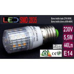 Żarówka TRK LED E27 SMD 2835 5,5W=55W RA80 ciepła