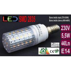 Żarówka TRK LED E14 SMD 2835 5,5W=55W RA80 ciepła