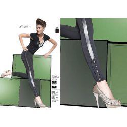 Bas Bleu JESSICA legginsy spodnie ala skóra r.3/M