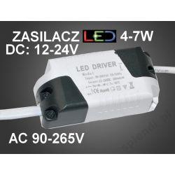 TRANSFORMATOR ZASILACZ LED DRIVER 4-7W DC:12-24V