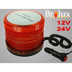 KOGUT LAMPA OSTRZEGAWCZA 72 LED POMARAŃCZ 12V 1218