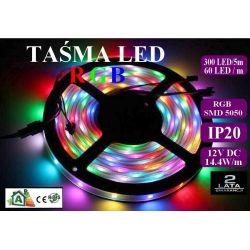 Taśma listwa RGB LED 300 60/m IP20 1mb SMD 5050