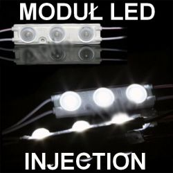 Moduł INJECTION 3 LED 2835 IP67 SOCZEWKA 9000K