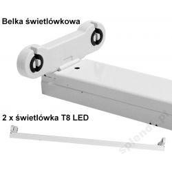 OPRAWA BELKA ŚWIETLÓWKOWA DO LED T8 2X36W 120cm
