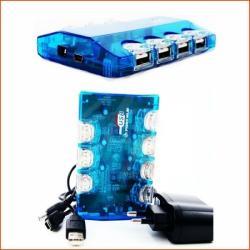 HUB USB 7 PORTÓW + ZASILACZ